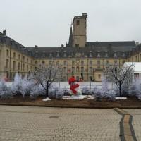 La patinoire de Dijon installée devant le Palais des ducs