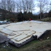 Le site est prêt à recevoir la structure de 375m²