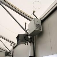 Un aérotherme électrique et le compresseur pour la toiture
