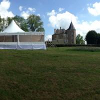 Mariage sous Chapiteau bambou de 375m² (15x25m) 5x5m au Château d'Alger à Avallon