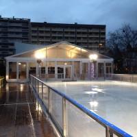 structure d'accueil 15x5m pour la Patinoire des Lumières à Lyon
