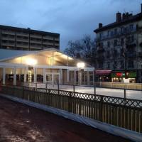 Patinoire des Lumières à Lyon et sa structure de 75m²
