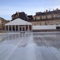Patinoire de Dijon pendant le montage