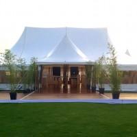Evénement d'entreprise sous Chapiteau bambou de 375m² (15x25m) avec terrasse au golf de Lyon